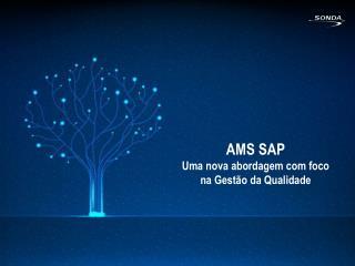 AMS SAP Uma nova abordagem com foco  na Gestão da Qualidade