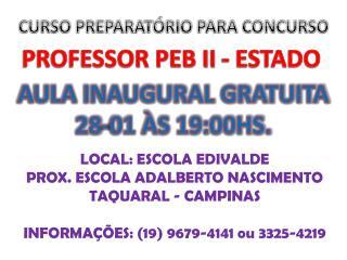 CURSO PREPARAT�RIO PARA CONCURSO
