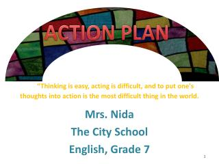 Mrs. Nida The City School English, Grade 7