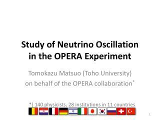 Study of Neutrino  Oscillation  in  the OPERA Experiment