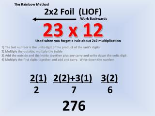 2x2 Foil  (LIOF) 23 x 12