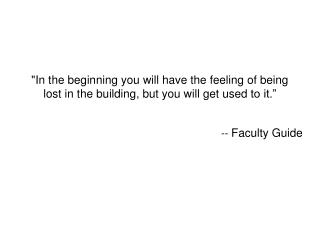 --  Faculty Guide