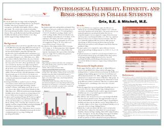 Psychological Flexibility, Ethnicity, and Binge-drinking in College Students