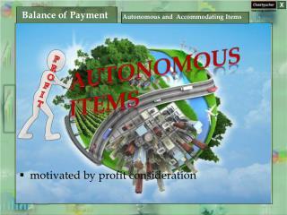 Autonomous Items