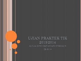 UJIAN PRAKTEK TIK 2013/2014