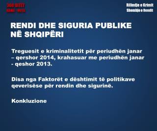 Rendi dhe siguria publike në  Shqipëri