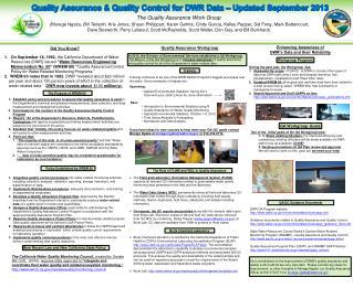 DWR QA Program website: water/environmentalservices/qaqc.cfm