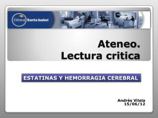 Ateneo.   Lectura critica