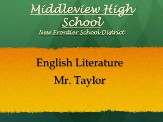 Middleview  High School New Frontier School District