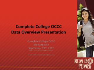 Complete College OCCC Data Overview Presentation