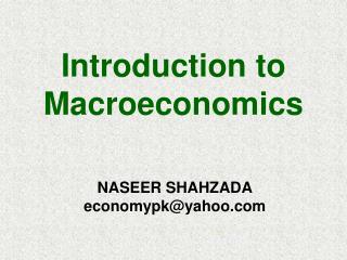 NASEER SHAHZADA economypk@yahoo
