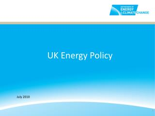UK Energy Policy
