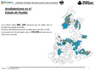Analfabetismo en el Estado de Puebla
