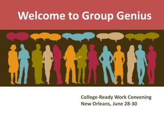 Welcome to Group Genius