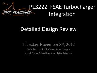 P13222: FSAE Turbocharger Integration