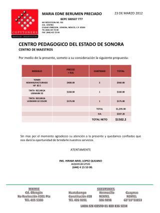 MATRIZ Cd. Obregón No Reelección #301  Pte TEL 415 5300