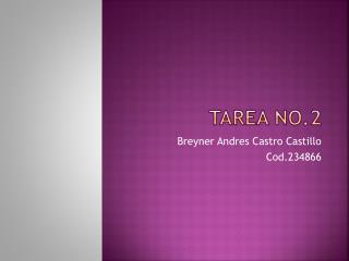Tarea No.2