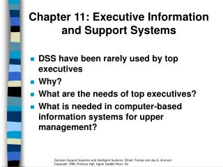 Chapter 11: Executive Information and Support Systems
