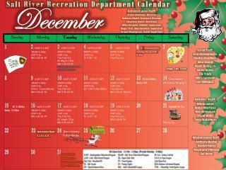 Salt River Recreation Department Calendar