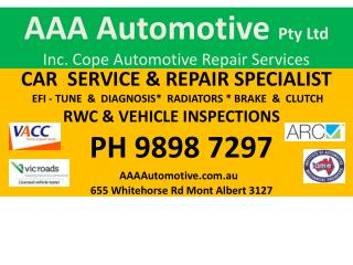 AAA Automotive  Pty Ltd Inc. Cope Automotive Repair Services