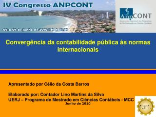 Converg ncia da contabilidade p blica  s normas internacionais