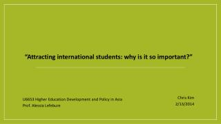 """Attracting  international students: why is it so important ?"""