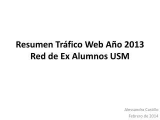 Resumen Tr �fico Web A�o 2013 Red de Ex Alumnos USM