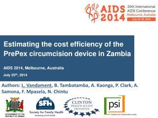 Estimating the cost efficiency  of the  PrePex  circumcision device  in  Zambia