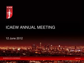 ICAEW ANNUAL  MEETING