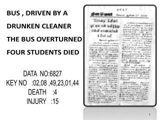 DATA  NO:6827 KEY NO   :02,08 ,49,23,01,44 DEATH    :4 INJURY   :15
