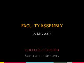 Faculty assembly