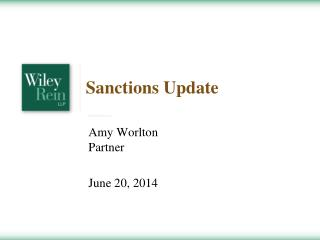 Sanctions Update