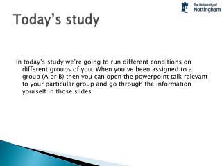 Today�s study