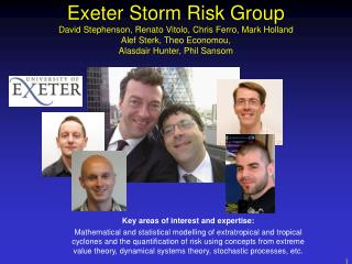 Exeter Storm Risk Group David Stephenson, Renato Vitolo, Chris Ferro, Mark Holland Alef Sterk, Theo Economou,  Alasdair