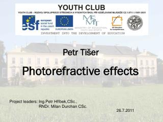 Photorefractive effects