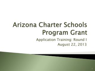 Arizona Charter Schools Program Grant