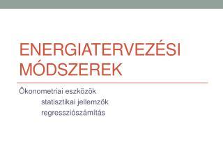 Energiatervezési módszerek