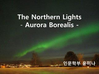 The Northern Lights -  Aurora Borealis -