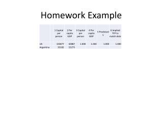 Homework Example