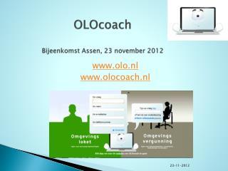 OLOcoach Bijeenkomst Assen, 23 november 2012