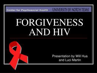 FORGIVENESS  AND HIV