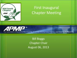 First Inaugural Chapter Meeting