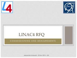 LINAC4 RFQ