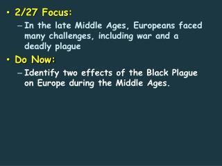 2 /27  Focus: