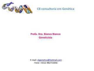 CB  consult oria  em Genética