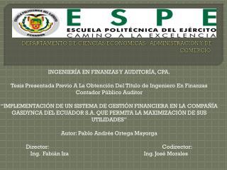 DEPARTAMENTO DE CIENCIAS ECONÓMICAS , ADMINISTRACIÓN Y DE COMERCIO.