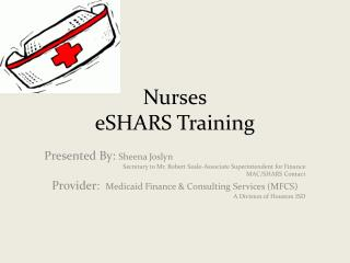 Nurses eSHARS Training
