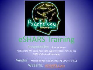 eSHARS Training
