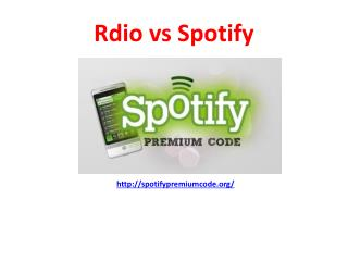 Spotify Showdown vs Rdio