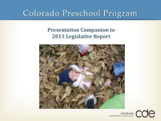 Colorado Preschool Program